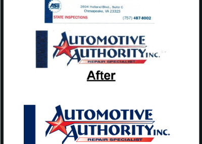 AUTO AUTHORITY LOGO Business Card #38-01